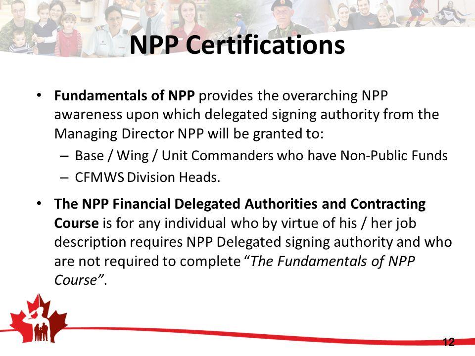 NPP Certifications
