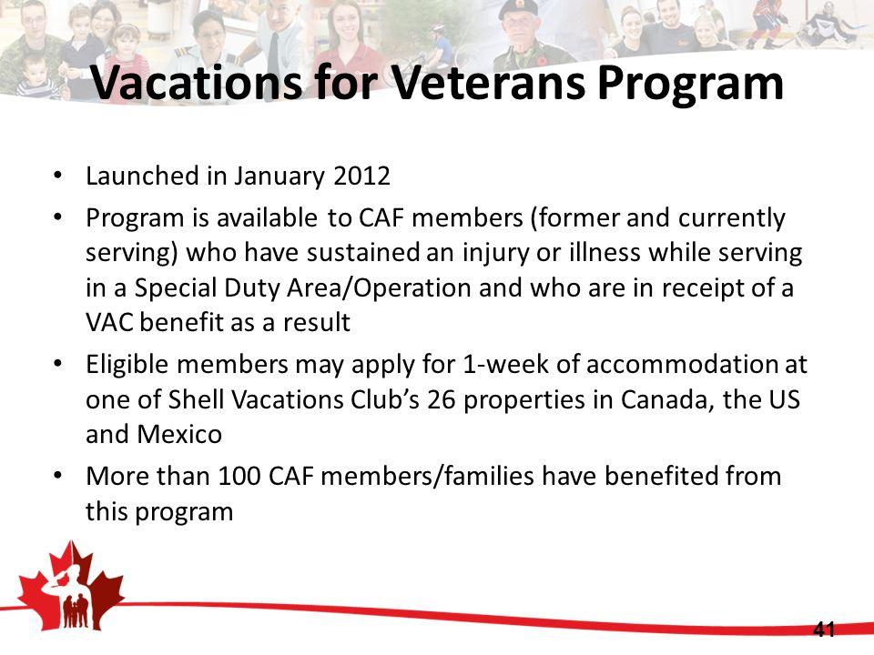 Vacations for Veterans Program