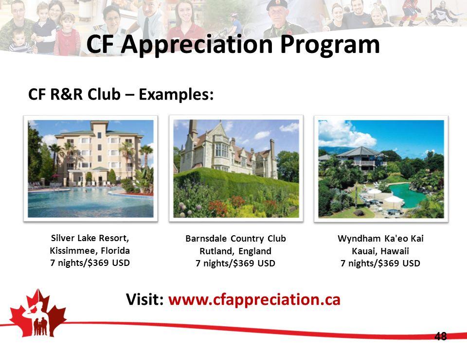 CF Appreciation Program