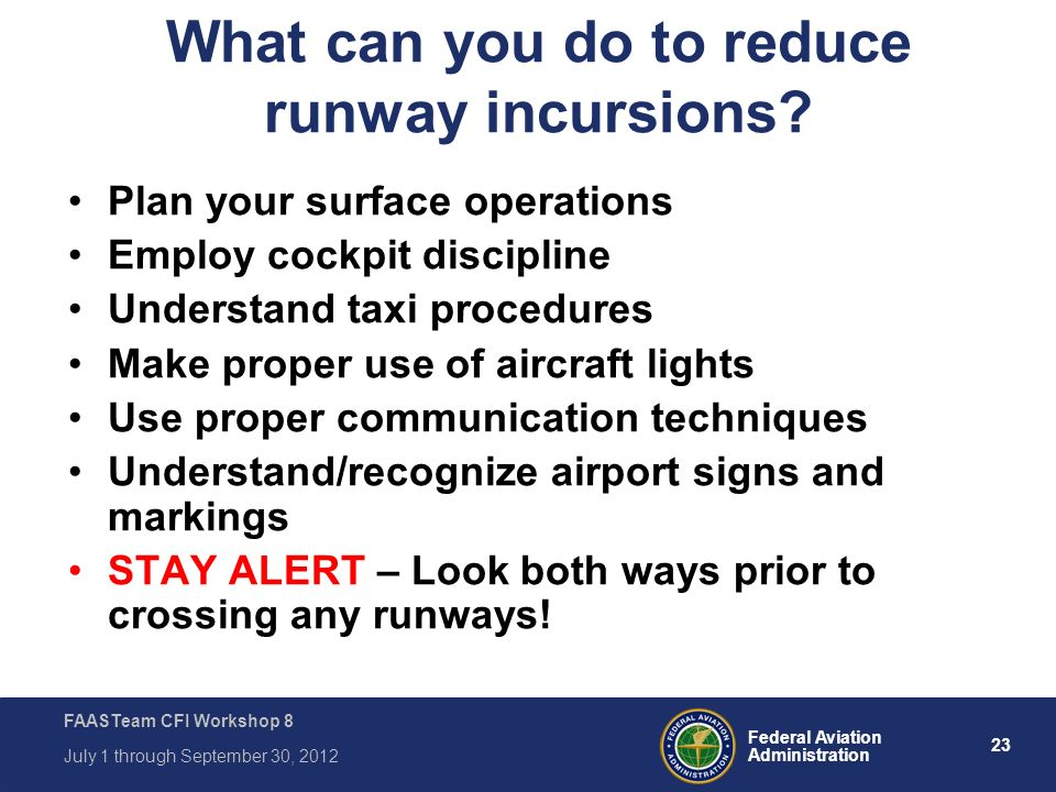 What can you do to reduce runway incursions