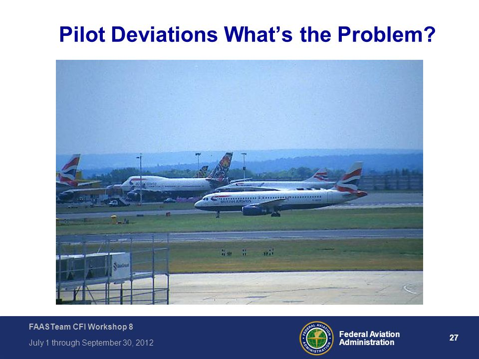 Pilot Deviations What's the Problem