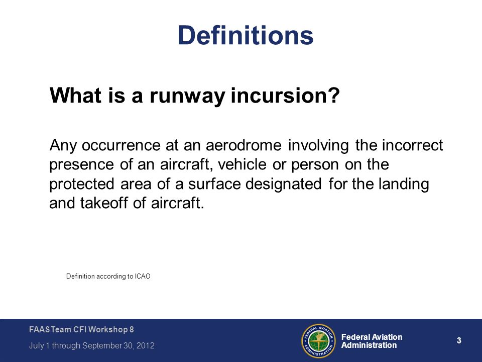 Definition according to ICAO