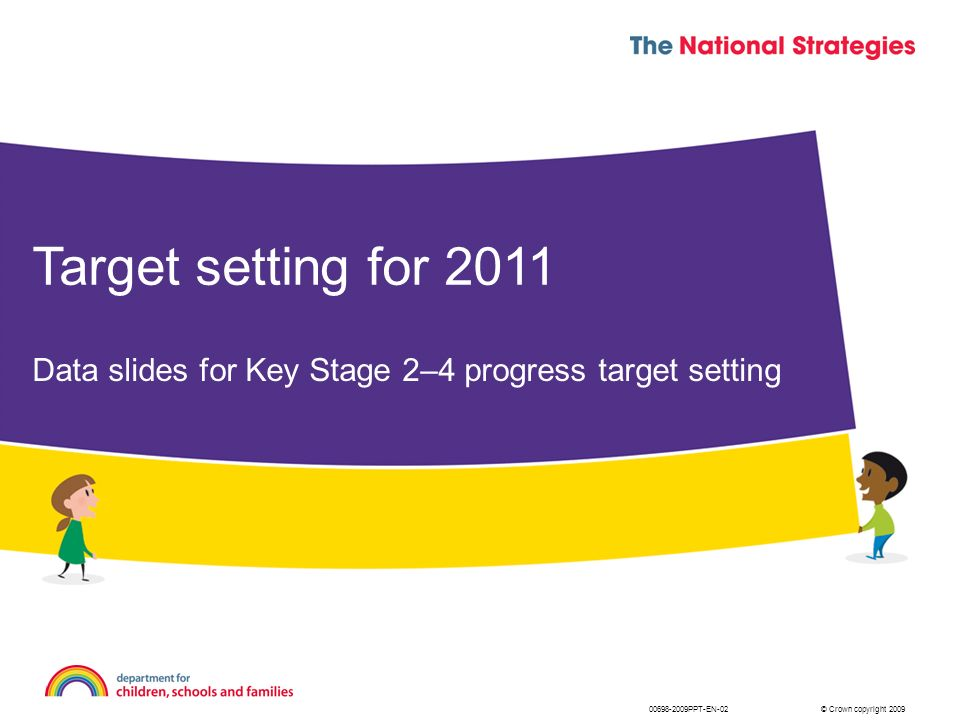 Data slides for Key Stage 2–4 progress target setting