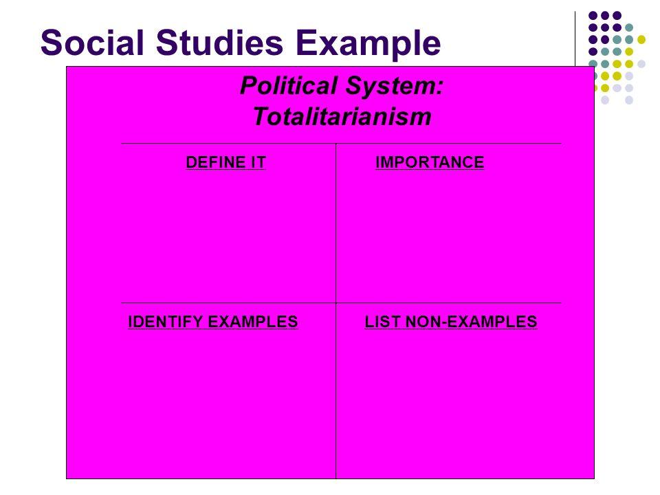 Social Studies Example