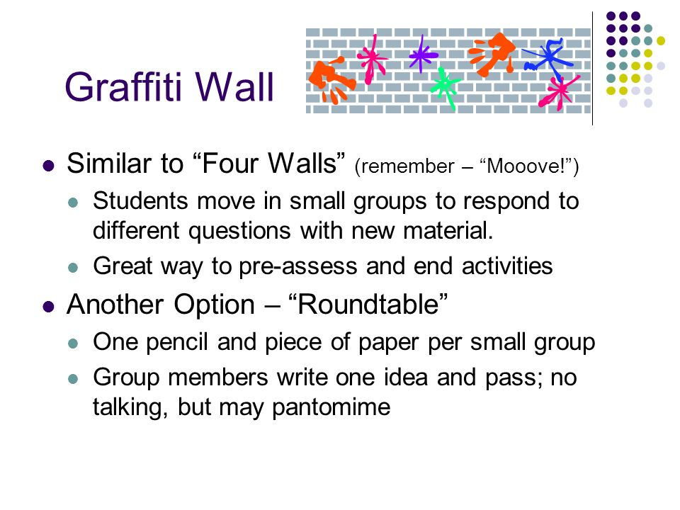 Graffiti Wall Similar to Four Walls (remember – Mooove! )