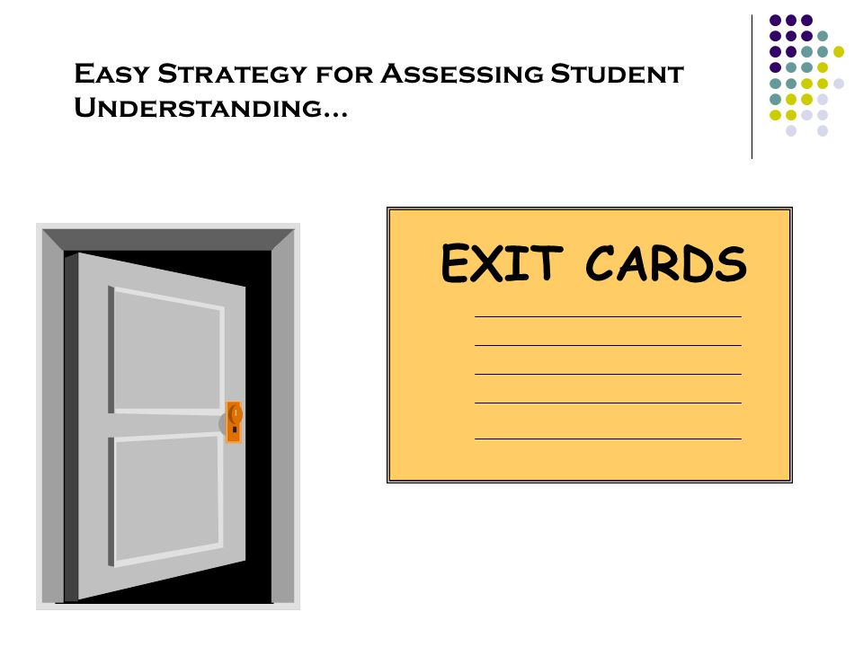 Easy Strategy for Assessing Student Understanding…