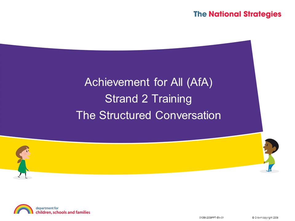 Achievement for All (AfA) Strand 2 Training