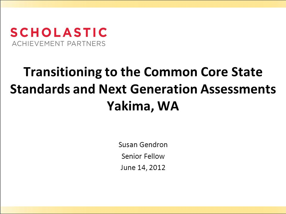 Susan Gendron Senior Fellow June 14, 2012