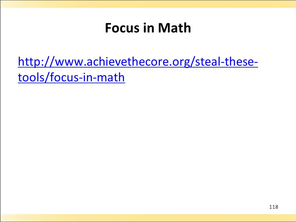 Focus in Math