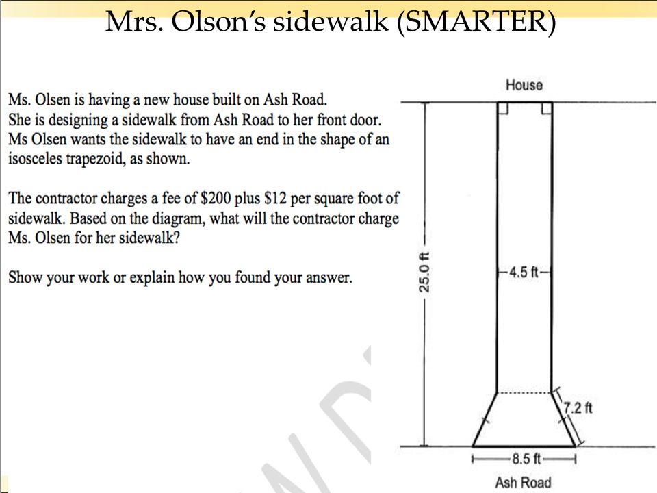 Mrs. Olson's sidewalk (SMARTER)