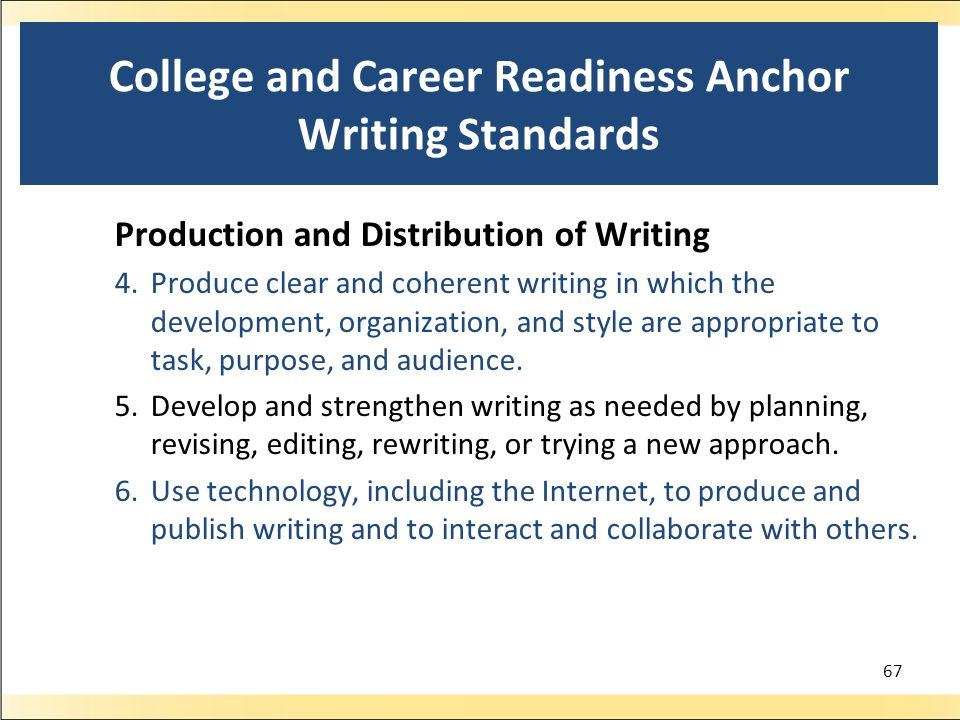 College and Career Readiness Anchor Writing Standards