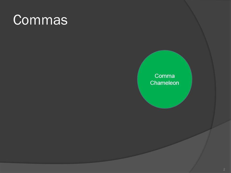 Commas Comma Chameleon