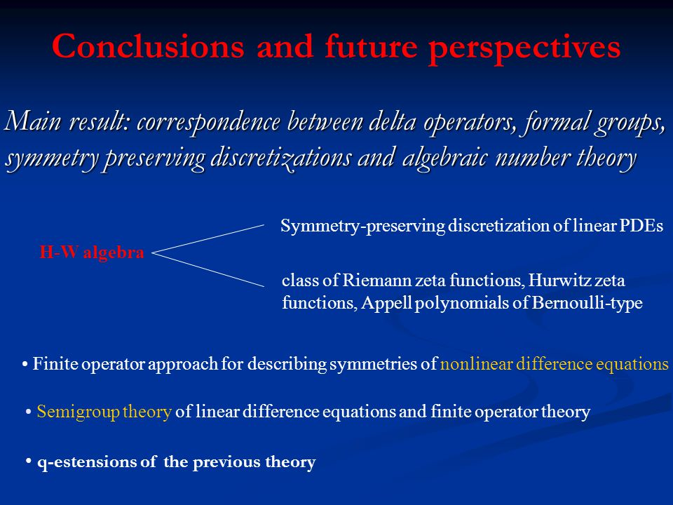 Conclusions and future perspectives