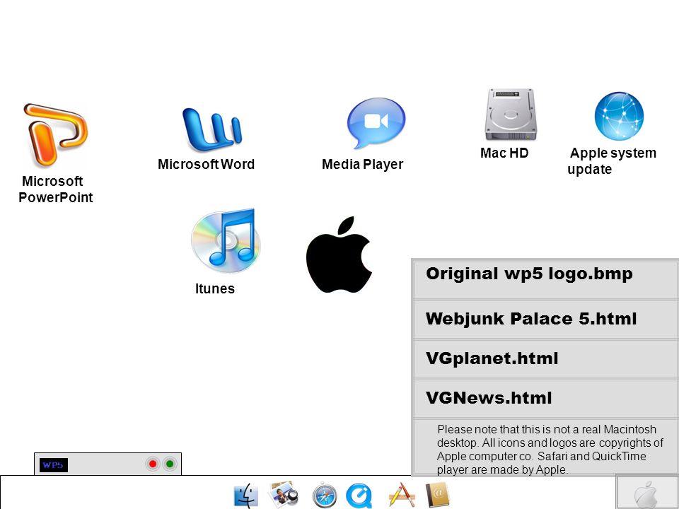 Original wp5 logo.bmp Webjunk Palace 5.html VGplanet.html VGNews.html