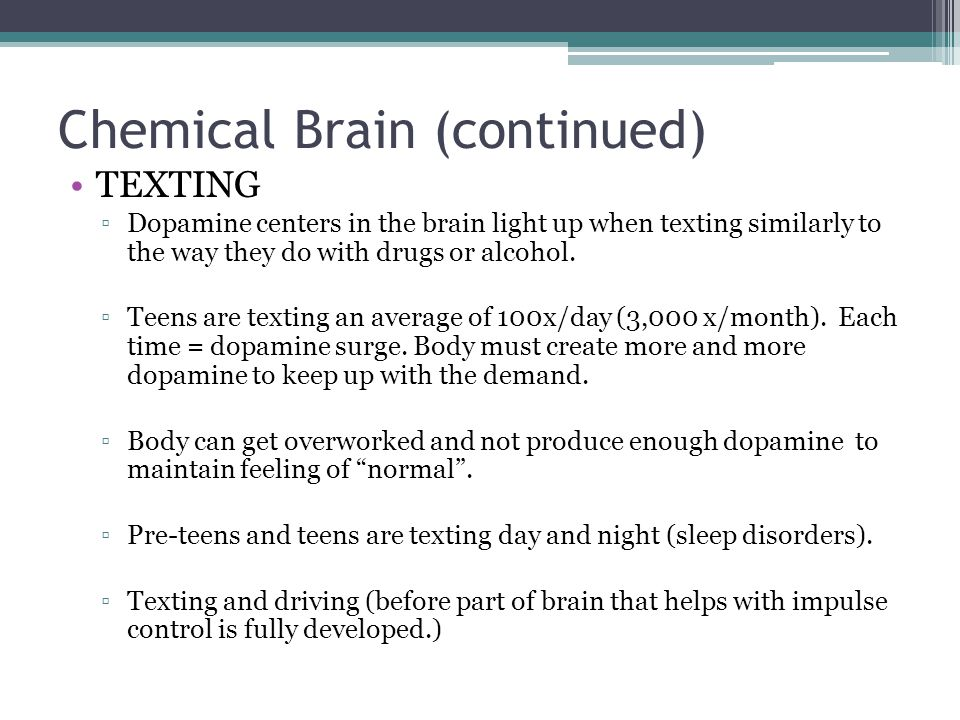 Chemical Brain (continued)