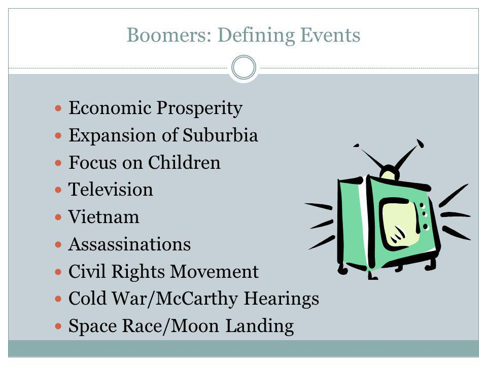 Boomers: Defining Events