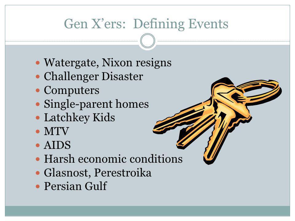 Gen X'ers: Defining Events