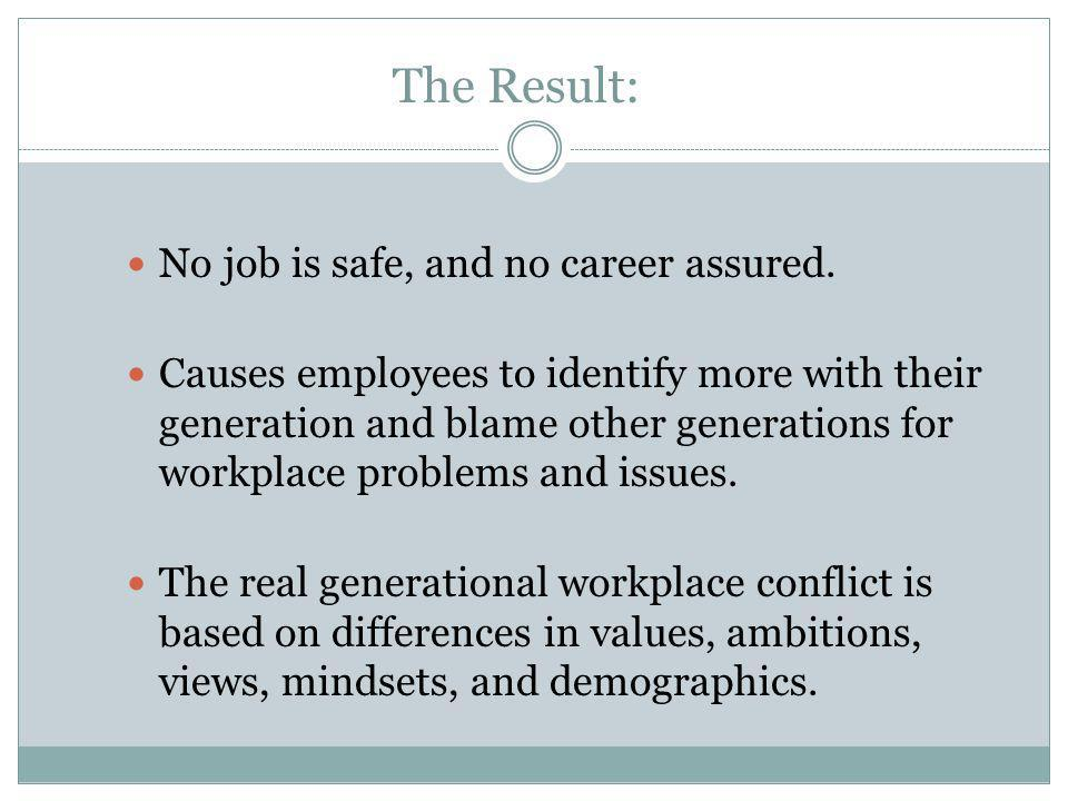 The Result: No job is safe, and no career assured.