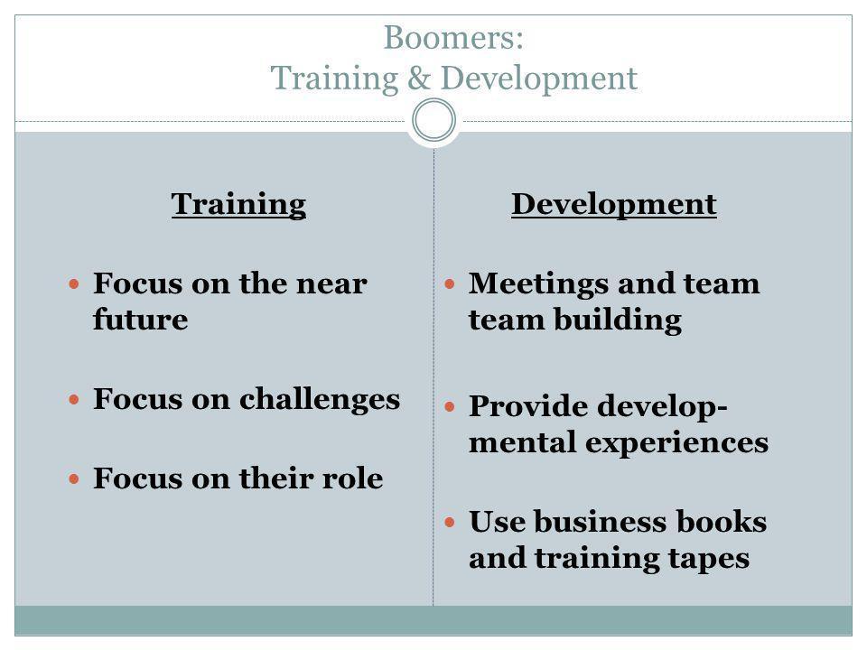 Boomers: Training & Development
