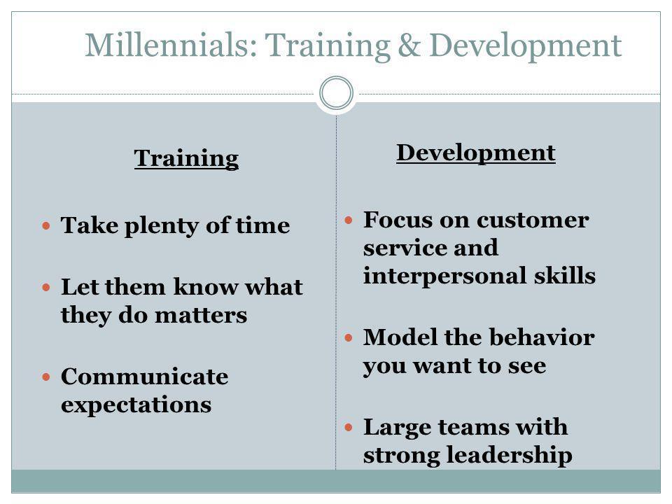 Millennials: Training & Development