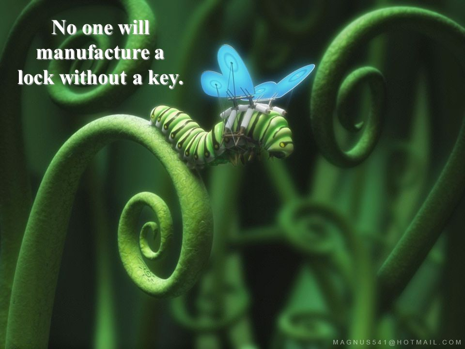 No one will manufacture a lock without a key.