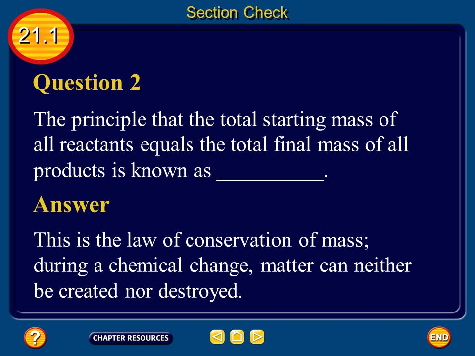 Section Check 21.1. Question 2.