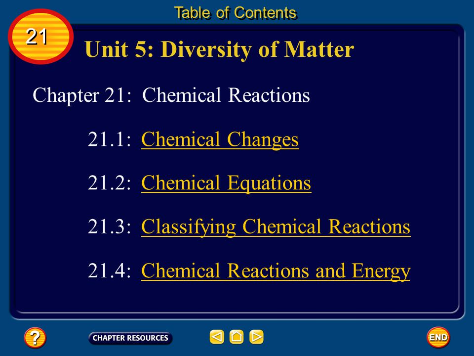 Unit 5: Diversity of Matter