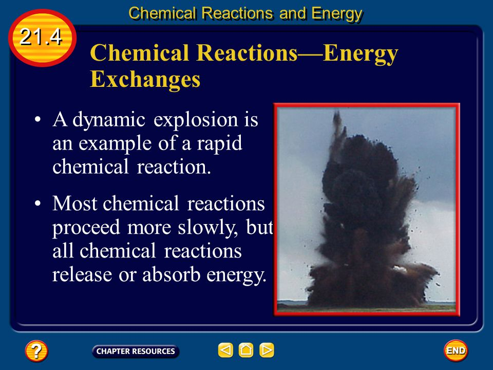 Chemical Reactions—Energy Exchanges