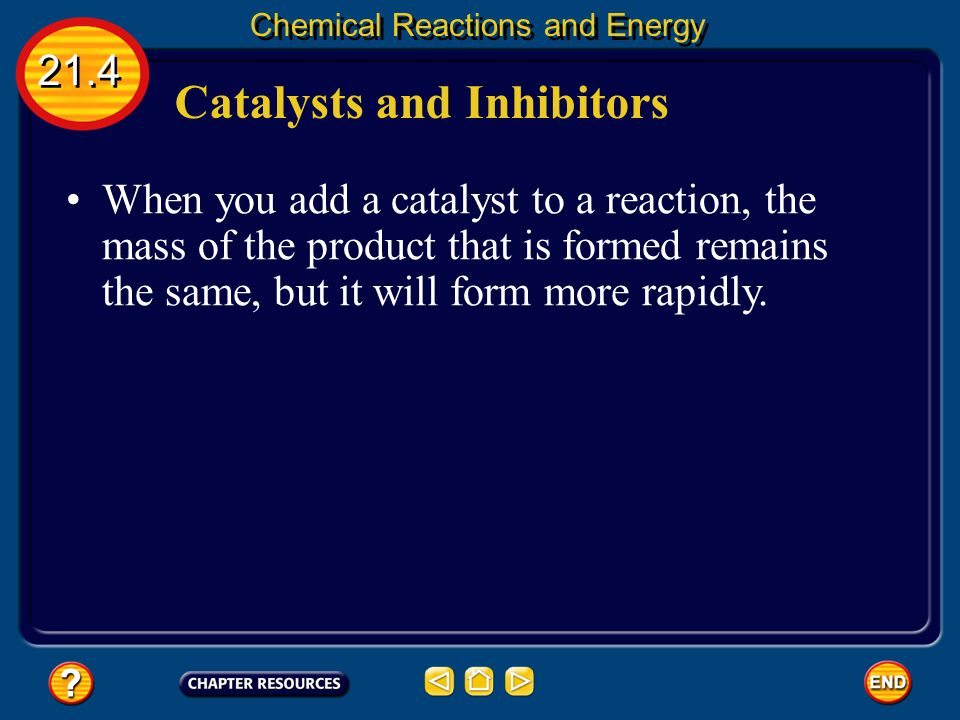 Catalysts and Inhibitors