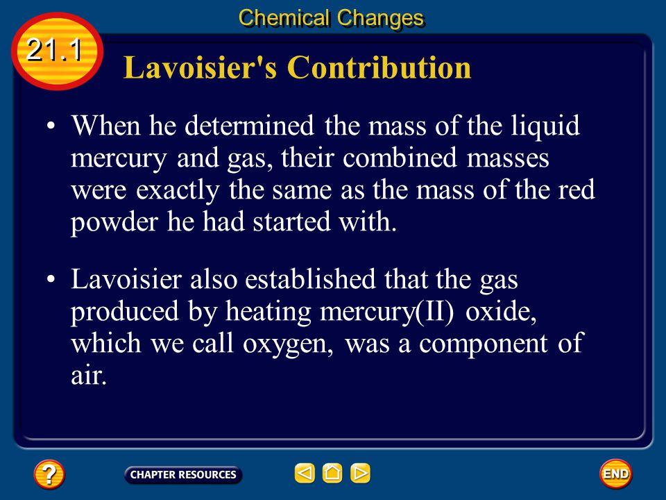 Lavoisier s Contribution