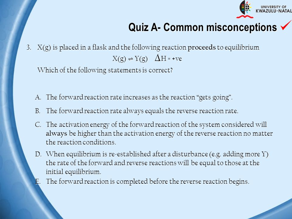 Quiz A- Common misconceptions