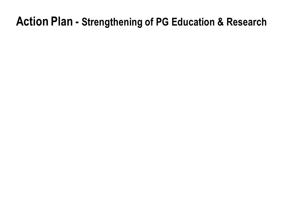 Action Plan - Strengthening of PG Education & Research