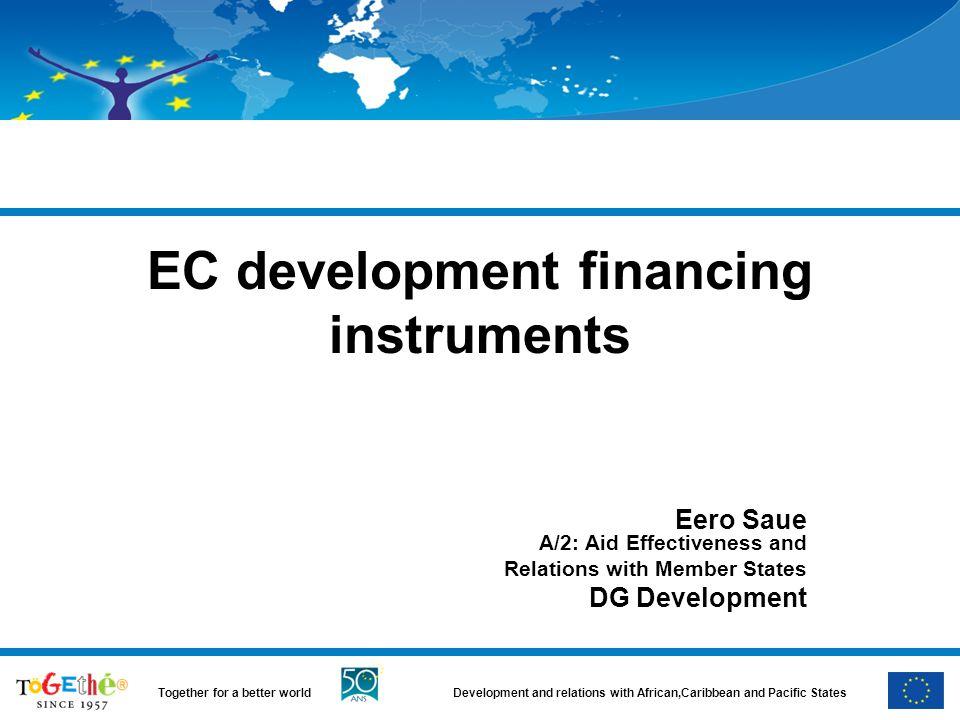 EC development financing instruments