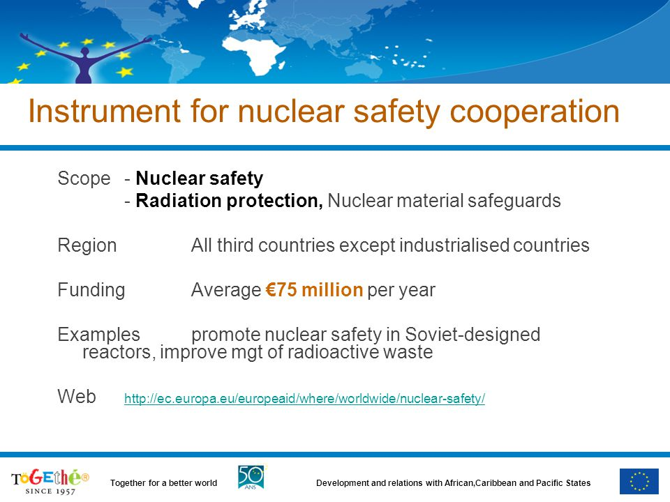 Instrument for nuclear safety cooperation