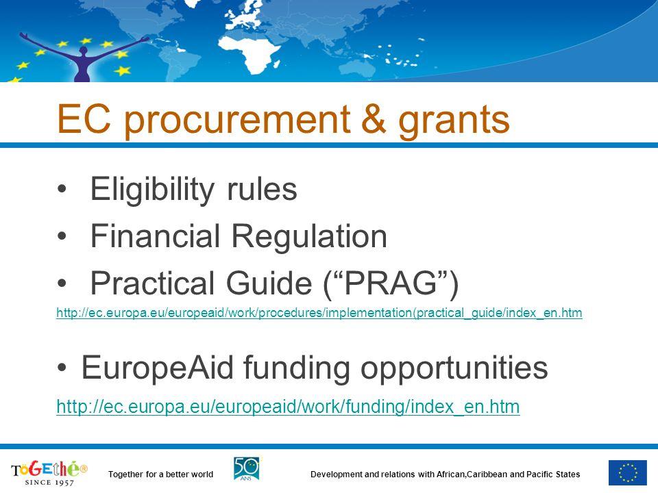 EC procurement & grants