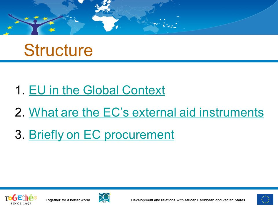 Structure EU in the Global Context
