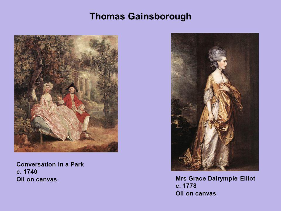 Thomas Gainsborough Conversation in a Park c. 1740 Oil on canvas