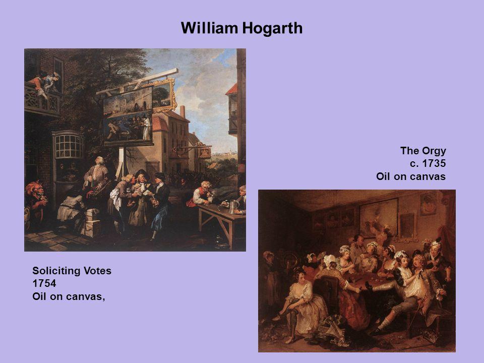William Hogarth The Orgy c. 1735 Oil on canvas