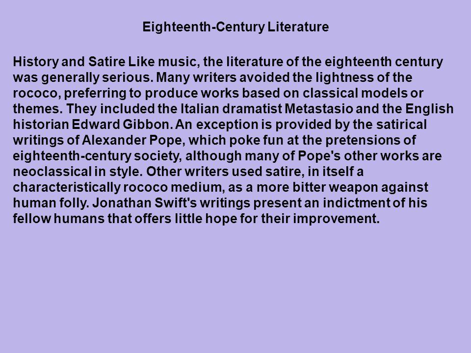 Eighteenth-Century Literature