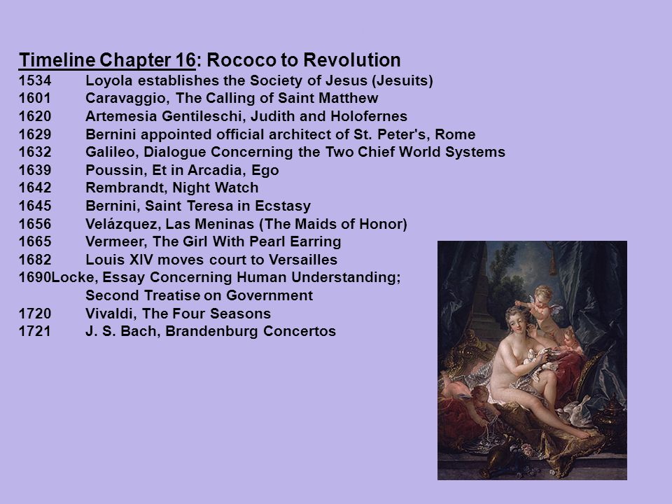 Timeline Chapter 16: Rococo to Revolution