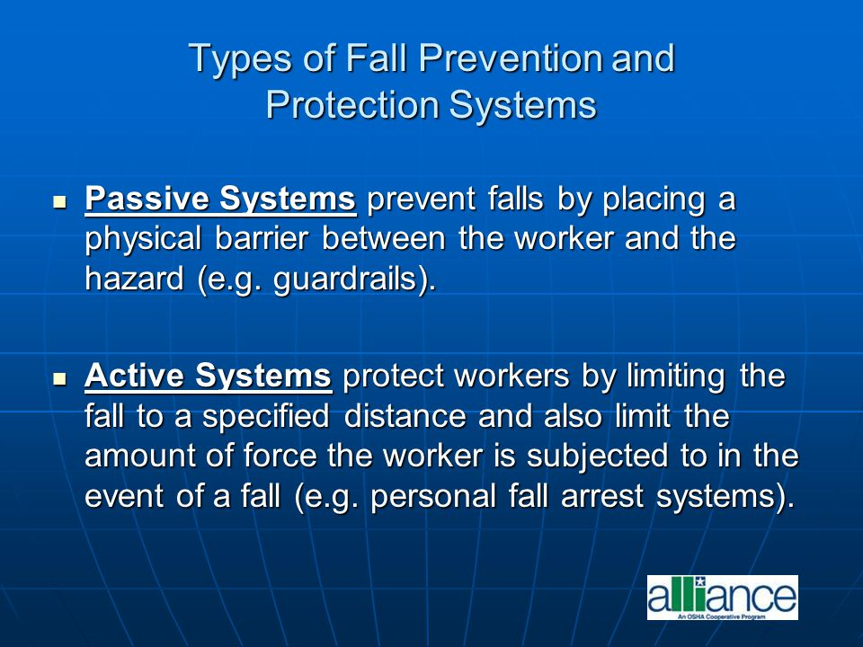 Types of Fall Prevention and Protection Systems