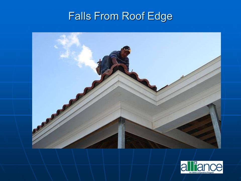 Falls From Roof Edge
