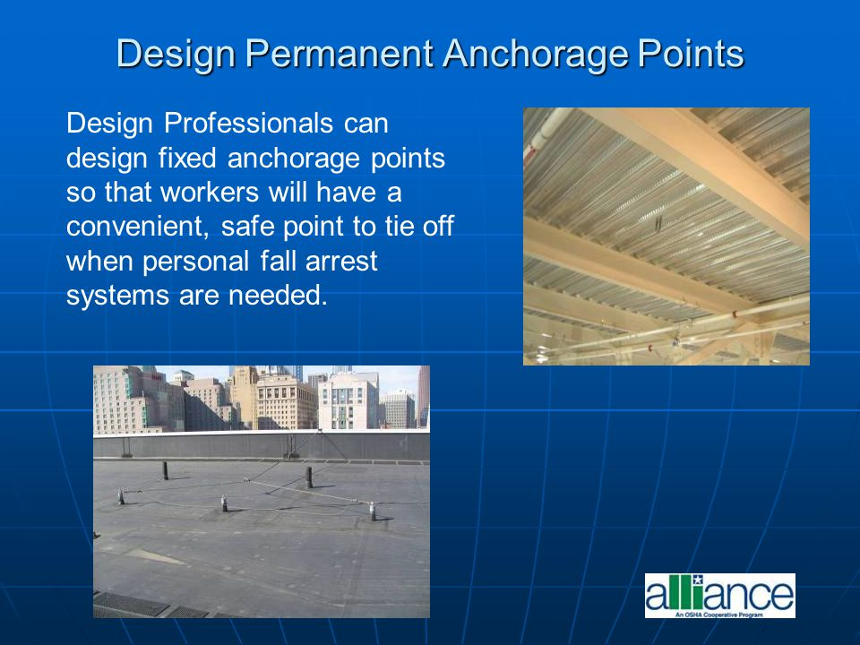 Design Permanent Anchorage Points