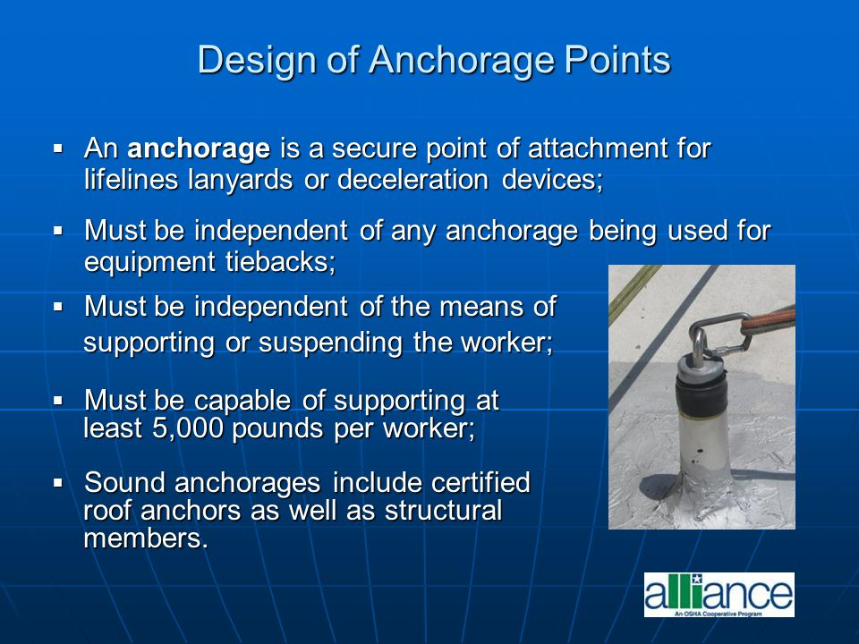Design of Anchorage Points