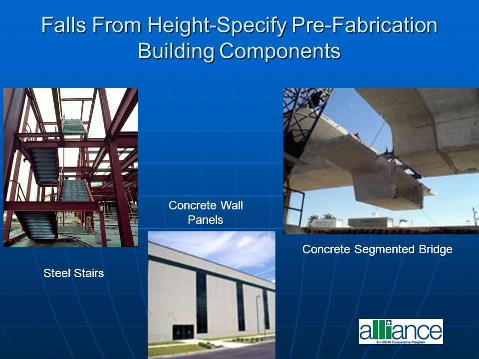 Falls From Height-Specify Pre-Fabrication Building Components