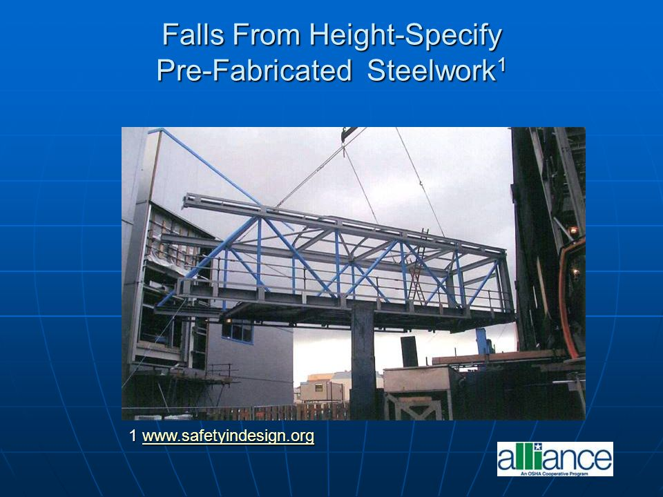 Falls From Height-Specify Pre-Fabricated Steelwork1