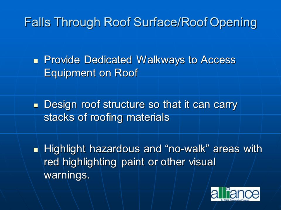 Falls Through Roof Surface/Roof Opening