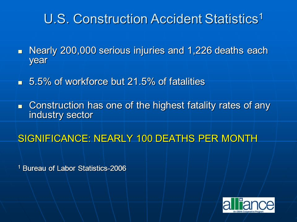 U.S. Construction Accident Statistics1