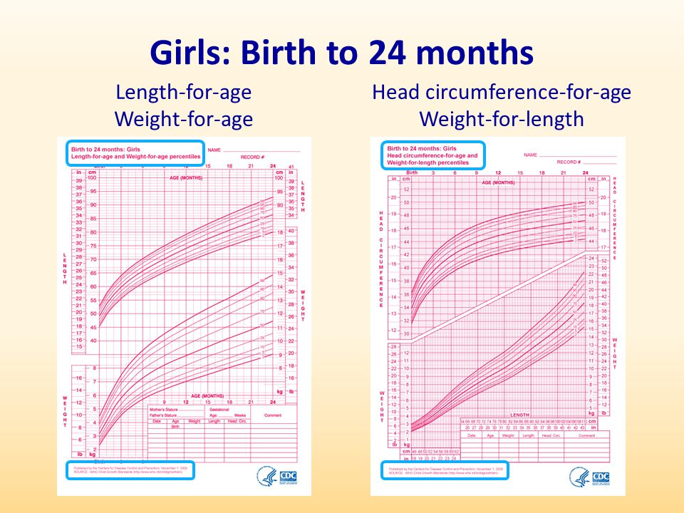 Head circumference-for-age Weight-for-length