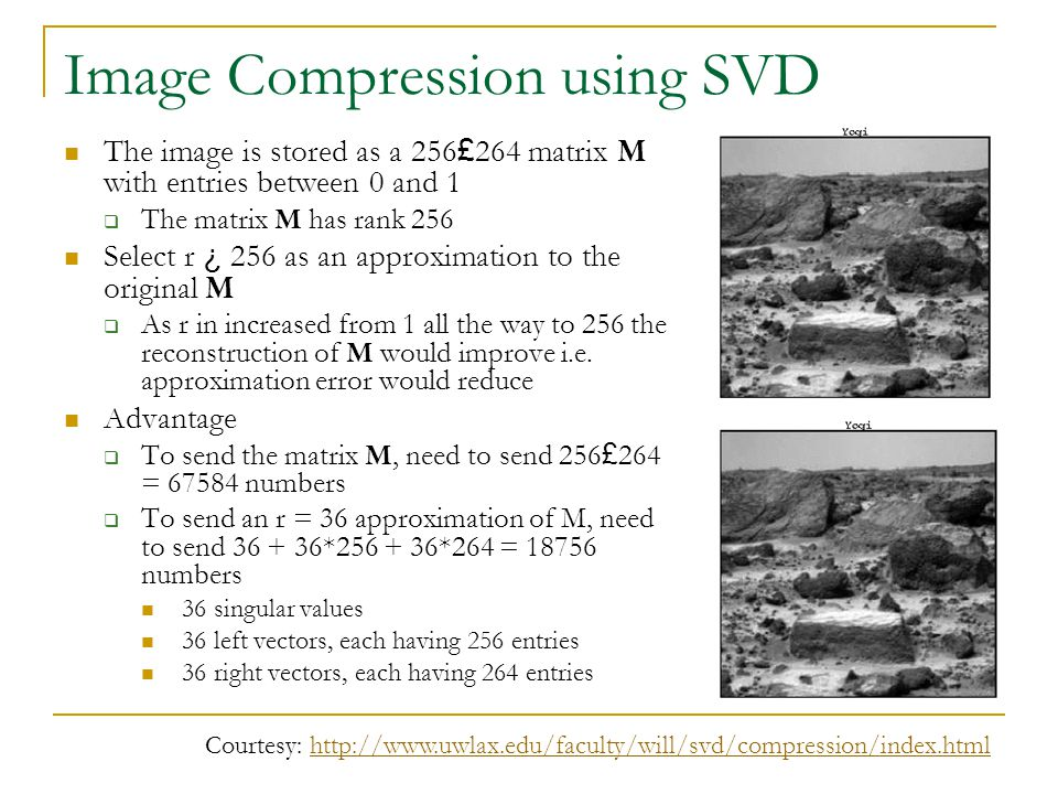 Image Compression using SVD